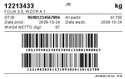 etykiety logistyczne gs1, etykieta logistyczna budowa